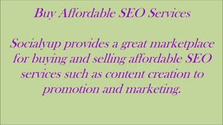 Promote Your Business With Affordable SEO Services - Video