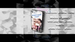 Personalized Phone Case- - Video
