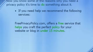 10 Reasons Why You Need a Privacy Policy - Video