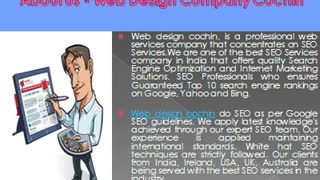 Web Design Company Cochin - Video