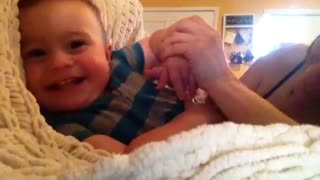 Cutest baby giggle ever! - Video