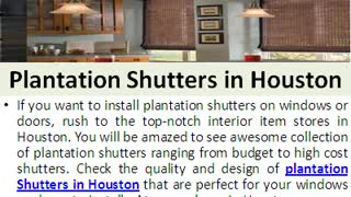 Find Quality Blinds And Shutters in Houston With Guarantee - Video