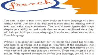 Learn French Language Easily - Video