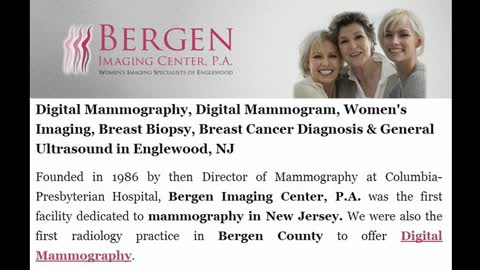 Digital Mammography NJ - (Bergenimagingcenter.com)
