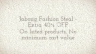 jabong fashion steal - extra 40% off, no minimum cart value - Video