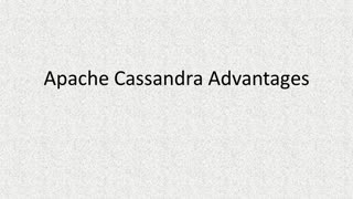 Apache Cassandra Advantages - Video