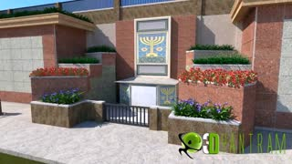 3d Exterior walkthrough ( Architectural Animation ) for courts of Abraham, California, USA - Video