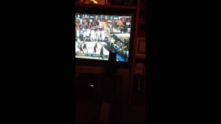 Kitten Loves March Madness - Video