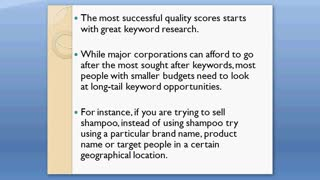 4 Steps to Raise Your Quality Score | PPC ads that Sell - Video