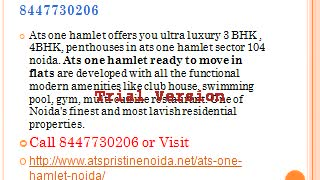 Resale Ats One Hamlet Noida - Video