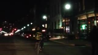 'Hoboken' Batman Spotted on His Bicycle - Video