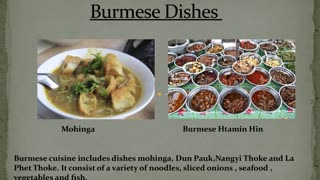 Burmese Dishes - Video