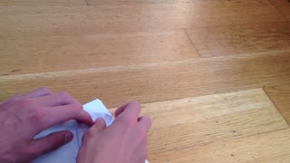 Coolest Paper Plane Ever! (with landing gears) - Video