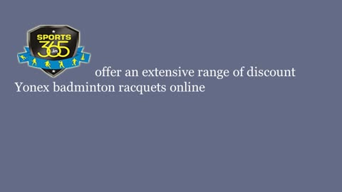 Buy Yonex Racquets with discount at Sports365