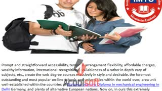 Diploma in Mechanical Engineering Distance Education IMTS - Video
