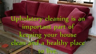 Upholstery Cleaning Rockville, Maryland - Video