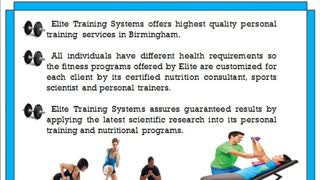 Elite Training Systems Provides Complete Personal Training and Online Services - Video
