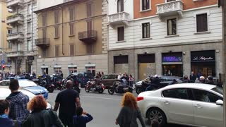 A little Motorbike Show inside MIlan - Video