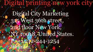digital printing new york city - Video
