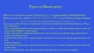 Debtor Education Course - Video