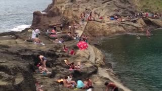 Smallest island on Azores - Video