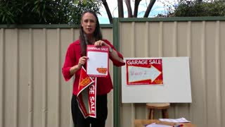 How to Hold a Garage Sale in Melbourne Australia – Great Garage Sales - Video