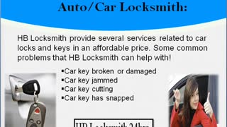 Reliable Car locksmith-HB Locksmith 24 hrs. - Video