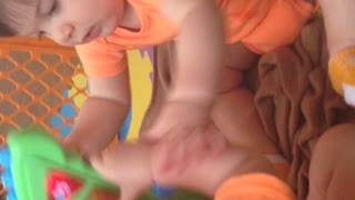 Twins having adorable fight - Video