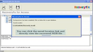 RecoveryFix for Access Database Recovery Tool - Video