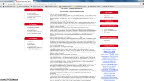 Best Free Article Submission Directory