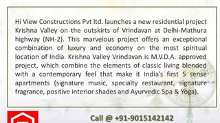 Krishna Valley Vrindavan India's first 5 senses apartments - Video