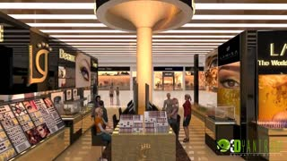 Shopping mall, POS design walkthrough presentation vedio - Video