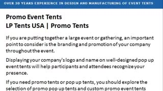 LP Tent Promo Event - Video