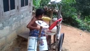 Imagine What This Kid Could Do With Real Drums - Video
