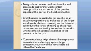 Target the Crowd with Custom Audience of Facebook - Video