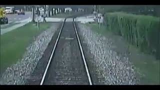 Escaping A Car Getting Hit by a train - Video