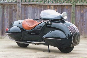 Futuristic Looking Motorcycle From 1930 - Picture